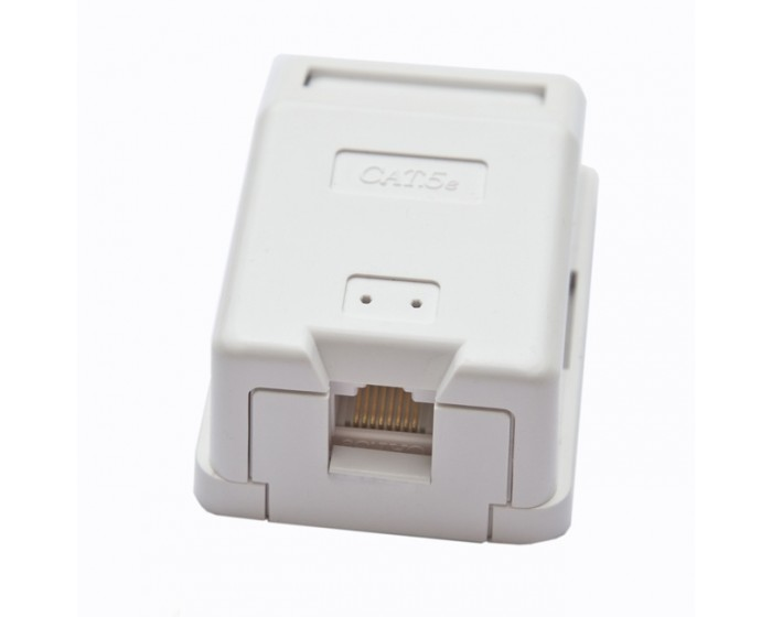 Cat6 Keystone Single Port Surface Box