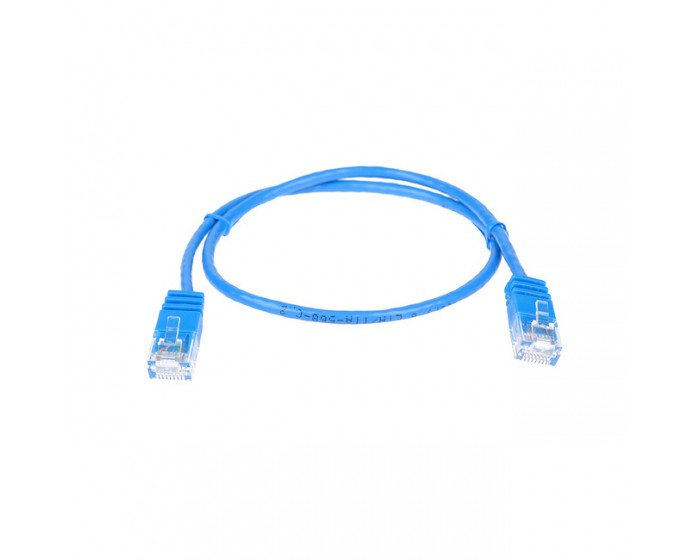 Cat6 UTP Slimline Patch Lead  0.5mtr