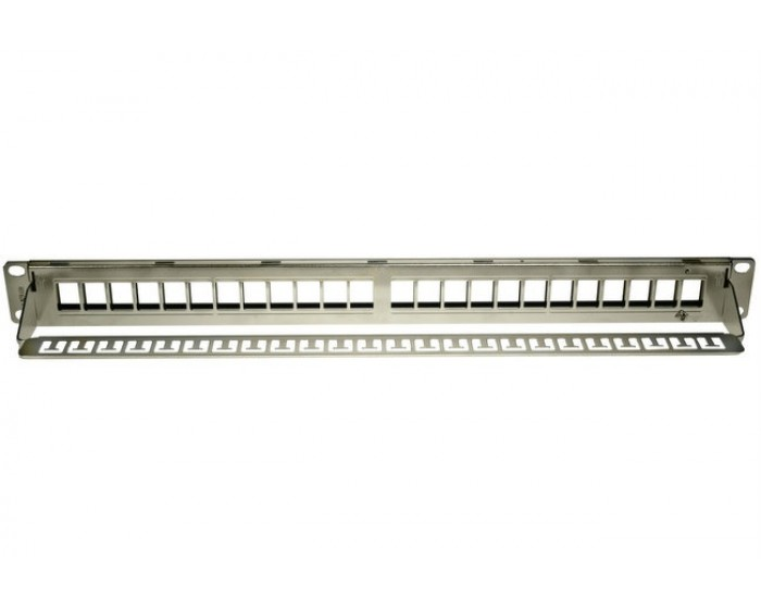 Cat6A Patch Panel 24 Port Keystone (unloaded)